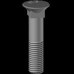 Plough screw BTFCC 1250, hardness 12.9