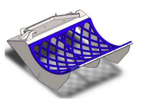 Basket screen Doppstadt AK430 100x100 mm, Hardox 500, 25 mm