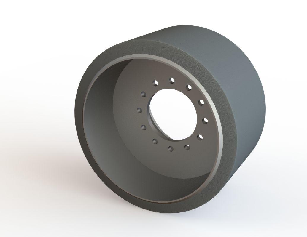 Midwheel harvester Claas Terratrack (rubber)