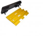 Polyuretane track pads size B4/350 mm (set)