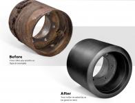 Midwheel Case STX Quadtrac (rubber)-refurbishment by polyuretane